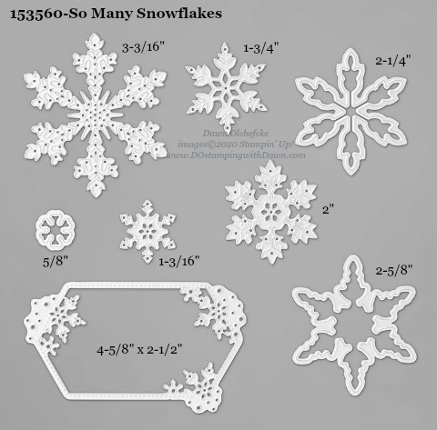 153560-Stampin' Up! So Many Snowflakes Die measurements #DOstamping #stampinup #stampincut #cardmaking #HowdSheDOthat #papercrafting