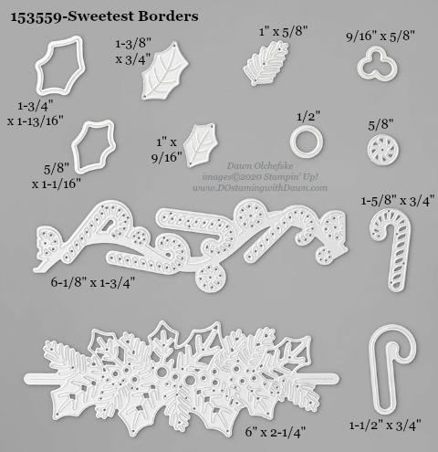 153559-Stampin' Up! Sweetest Borders Die measurements #DOstamping #stampinup #stampincut #cardmaking #HowdSheDOthat #papercrafting