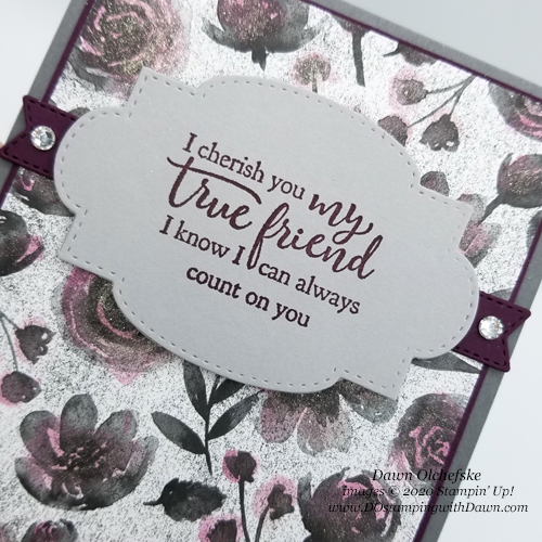 Stampin' Up! Strong & Beautiful with Magic in the Night Designer Series Paper card by Dawn Olchefske #dostamping #howdshedothat #stampinup #handmade #stamping #papercrafting  #YCC114 #YourCreativeConnection