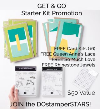 Join the DOstamperSTARS during the Get & Go Starter Kit Promotion #dostamping #dawnolchefske #joinstampinup #papercrafting #getandgo