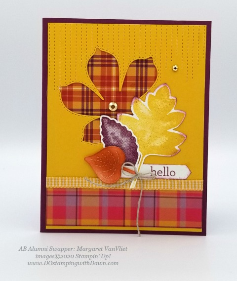 Stampin' Up! Love of Leaves Bundle swap card shared by Dawn Olchefske #dostamping #howdshedothat #stampinup #handmade #cardmaking #stamping #papercrafting (Margaret VanVliet)