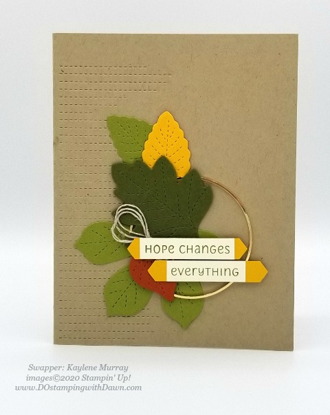 Stampin' Up! Love of Leaves Bundle swap card shared by Dawn Olchefske #dostamping #howdshedothat #stampinup #handmade #cardmaking #stamping #papercrafting (Kaylene Murray)