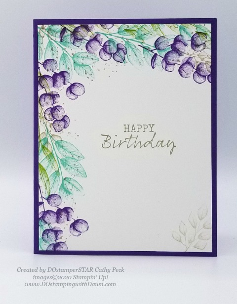Stampin' Up! birthday cards shared by Dawn Olchefske #dostamping #howdshedothat #stampinup #handmade #cardmaking #stamping #papercrafting (Cathy Peck)