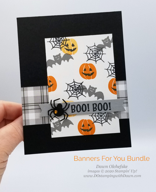 Banners For You Bundle Halloween card by Dawn Olchefske #dostamping #howdshedothat #stampinup #handmade #stamping #papercrafting#YCC116 #YourCreativeConnection