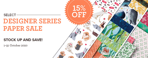 15% off Stampin' Up! Designer Series Paper sale - Oct 2020 shop with Dawn Olchefske  http://bit.ly/OctDSPsale2020, #DSPsale #dostamping #stampinup #papercrafting #cardmaking