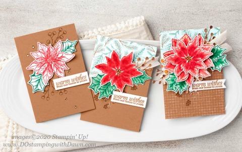 Stampin' Up! Poinsettia Petals Bundle shared by Dawn Olchefske #dostamping #howdshedothat #stampinup #handmade #cardmaking #stamping #papercrafting