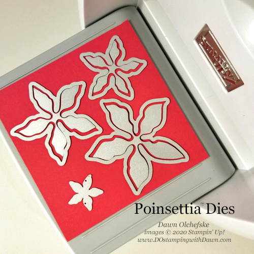 Poinsettia Dies #dostamping #stampinup #poinsettiapetals