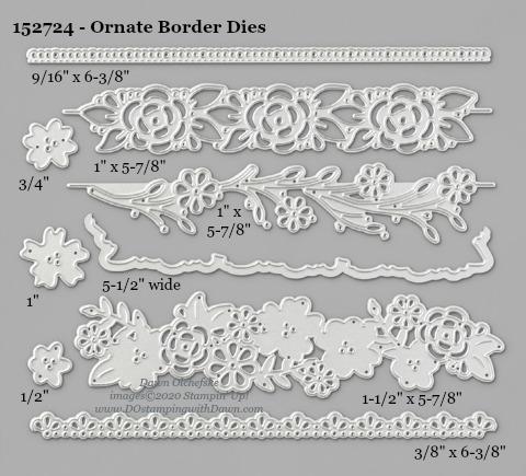 Stampin' Up! Ornate Border Dies-152724 -  #DOstamping #stampinup #cardmaking #HowdSheDOthat #papercrafting