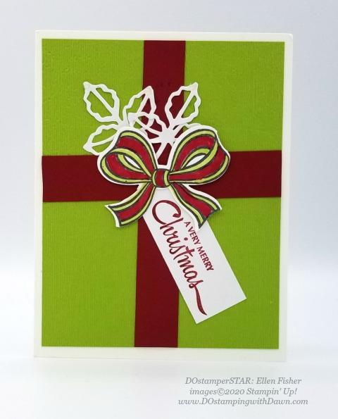 Stampin' Up! Gift Wrapped Bundle shared by Dawn Olchefske #handmade #cardmaking #stamping #papercrafting #christmascards (DOstamperSTAR Ellen Fisher)