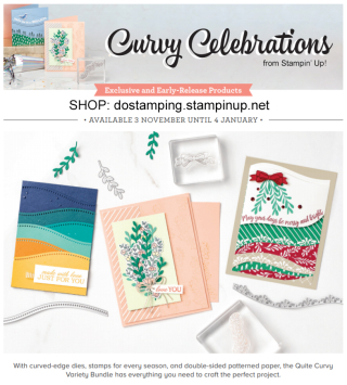 Curvy Celebrations promotion from Stampin' Up!  #dostamping #stampinup #curvycelebrations