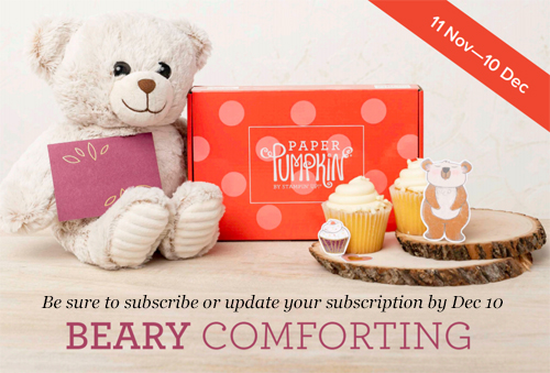 Paper Pumpkin December 2020-Beary Comforting Sneak Peek subscribe with Dawn Olchefske by Dec 10th #paperpumpkin #dostamping #stampsinthemail