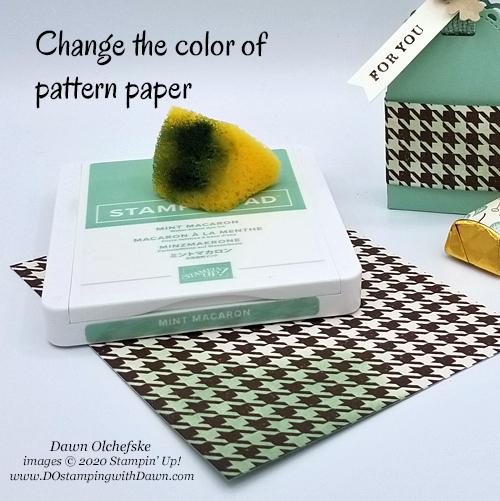 Color pattern paper Gilded Autumn Designer Series Paper #dostamping #stampinup #HowdSheDOthat
