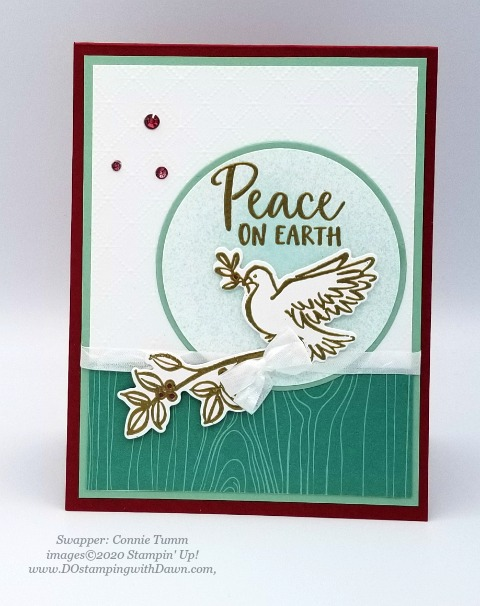 Stampin' Up! Dove of Hope Christmas swap card shared by Dawn Olchefske #dostamping #cardmaking #stamping #papercrafting (Connie Tumm)