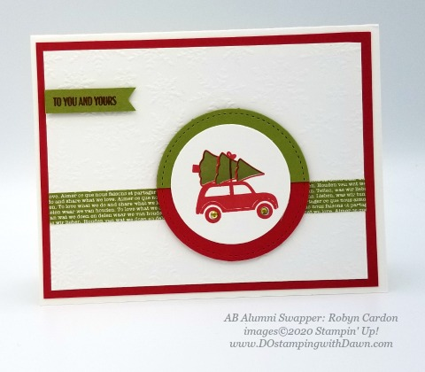 Stampin' Up! Festive Post, Christmas swap card shared by Dawn Olchefske #dostamping #cardmaking #stamping #papercrafting (Robyn Cardon)