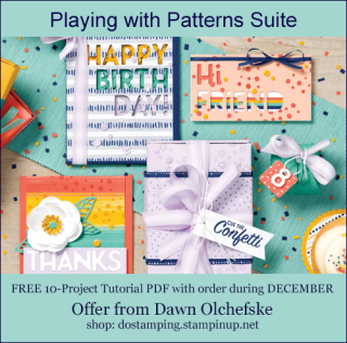 DOstamping DECEMBER 2020 order BONUS - FREE Playing with Patterns Suite 10-Project Tutorial PDF, https://bit.ly/shopwithdawn | #dostamping #cardmaking #stampinup