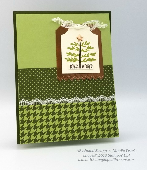 Stampin' Up! Everything Essential Bundle swap shared by Dawn Olcheske #dostamping #christmas cards AB-Natalie Travis