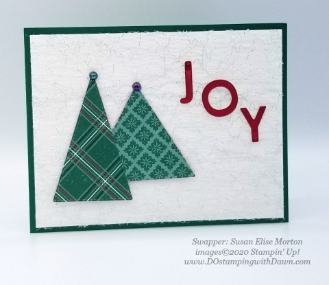 Stampin' Up! Tree  Angle swap shared by Dawn Olcheske #dostamping #christmas cards (Susan Elise Morton)