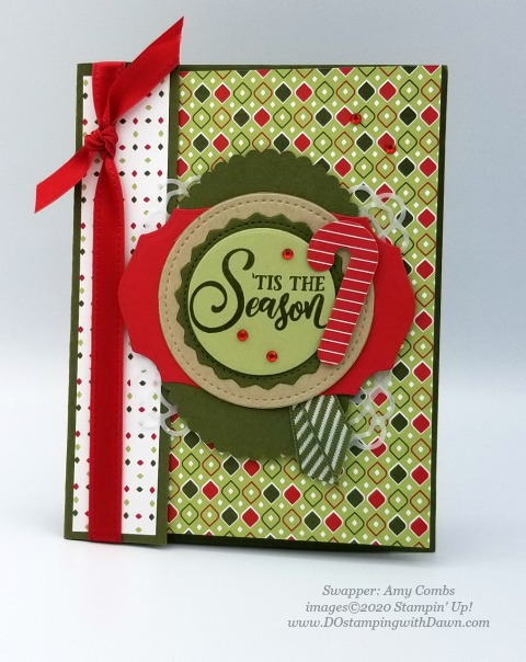 Stampin' Up! Tag Buffet swap shared by Dawn Olcheske #dostamping #christmas cards Amy combs