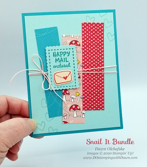 Card by Dawn Olchefske Stampin' Up! product-from Snail Mail Suite coming Jan 5 #dostamping #papercrafting #diy-P