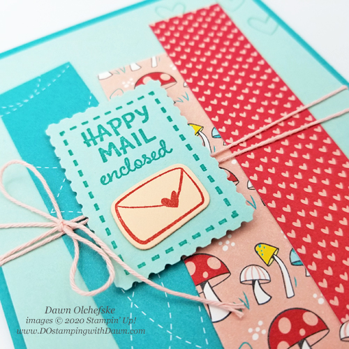 Card by Dawn Olchefske Stampin' Up! product-from Snail Mail Suite coming Jan 5 #dostamping #papercrafting #diy-c+