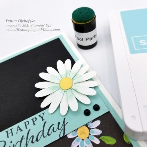 Sale-a-Bration FREE Field Flower Designer Series Paper Slimline Card by Dawn Olchefske #dostamping #stampinup howdSheDOthat cu2