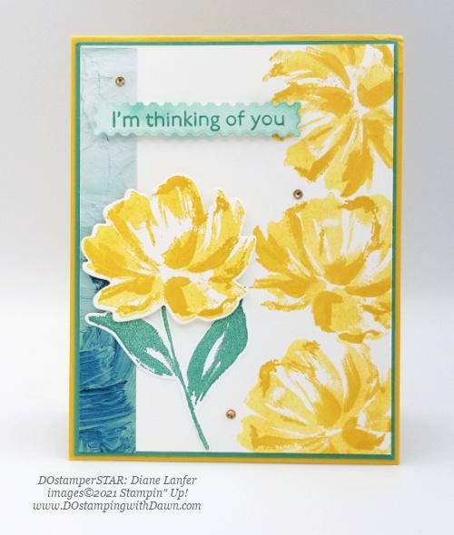 Stampin' Up! Fine Art Floral card swap shared by Dawn Olchefske #dostamping #cardmaking (Diane Lanfer)