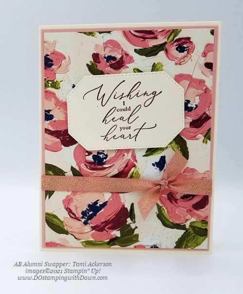 Stampin' Up! Fine Art Floral card swap shared by Dawn Olchefske #dostamping #cardmaking (Tami Ackerson)