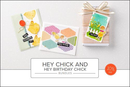 Stampin' Up! Hey Chick and Hey Birthday Chick Bundles #dostamping #papercrafting