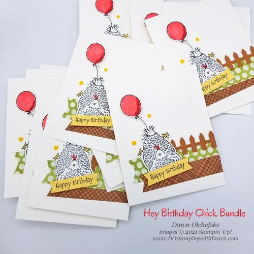 Stampin' Up! Hey Birthday Chick Bundle card by Dawn Olchefske #dostamping #howdSheDOthat #heybirthdaychick g