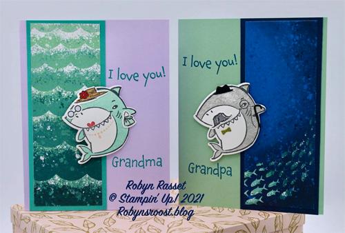 Shark Frenzy Bundle card shared by Dawn Olchefske made by DOstamperSTAR Robyn Rasset #dostamping #stampinup #valentinesdaycards-1