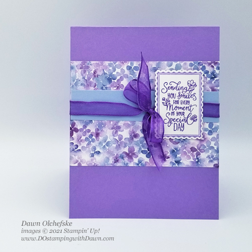 Stampin' Up! Punch Party sketch card by Dawn Olchefske for DOstamperSTARS #DOswtds356 #dostamping #HowdSheDOthat #saleabration