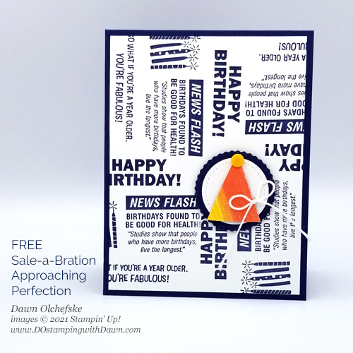 Sale-a-Bration Approaching Perfection FREE stamp set card by Dawn Olchefske #dostamping #stampinup #cardmaking #howdSheDOthat-P