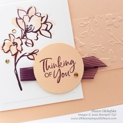Sale-a-Bration Touch of Ink card by Dawn Olchefske #dostamping #stampinup #howdSheDOthat-cu