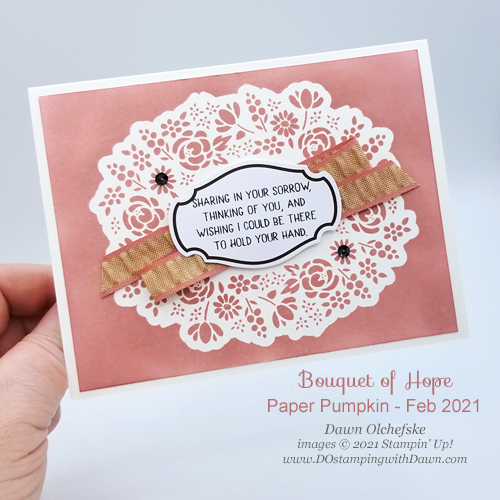 Paper Pumpkin Bouquet of Hope February 2019 kit alternate ideas from Dawn Olchefske #dostamping #cardkits #howdSheDOthat-P