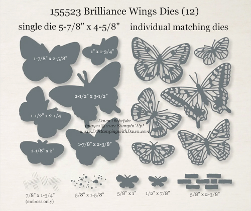 155523 Brilliant Wings Dies from Stampin' Up! shared by Dawn Olchefske #dostamping #howdSheDOthat #StampinCutandEmboss