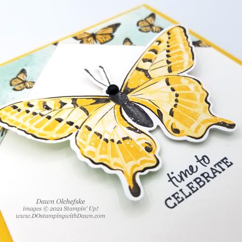 Butterfly Bijou Designer Series Paper Sketch card by Dawn Olchefske for DOstamperSTARS #DOswts358 #howdSheDOthat #stampinup #dostamping-1