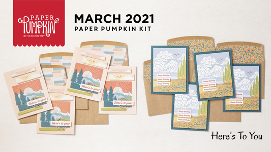 Here's To You Paper Pumpkin kit March 2021 Dawn Olchefske #dostamping #paperpumpkin