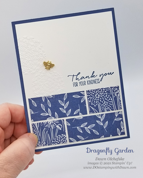 Stampin' Up! Dragonfly Garden card by Dawn Olchefske for DOstamperSTARS #DOswts360 sketch #dostamping #HowdSheDOthat #papercrafting-P