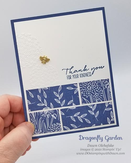 Stampin' Up! Dragonfly Garden card by Dawn Olchefske for DOstamperSTARS #DOswts360 sketch #dostamping #HowdSheDOthat #papercrafting-P