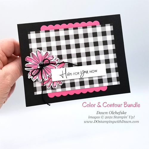Stampin' Up! Color & Contour Bundle card with Pattern Party FREE Stampin' Rewards -Designer Series Paper by Dawn Olchefske for DstamperSTARS #DOswtds362 #dostamping #HowdSheDOthat-p