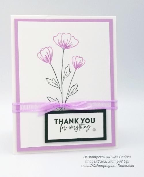 Stampin' Up! Flowers of Friendship Bundle swap cards shared by Dawn Olchefske #dostamping #flowersofFriendship (DOstamperSTAR Jan Carlson)