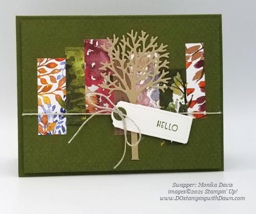 Stampin' Up! Inspired Thoughts Bundle swap cards shared by Dawn Olchefske #dostamping #inspiredthoughts (Monika Davis)