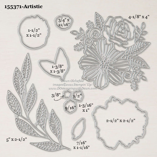 Stampin' Up! Artistic Dies sizes shared by Dawn Olchefske #dostamping #stampinup #papercrafting #diecutting #stampindies