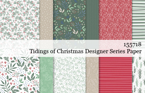 155718 Stampin' Up! Tidings of Christmas Designer Series Paper shared by Dawn Olchefske #dostamping #stampinup #handmade #cardmaking #stamping #papercrafting