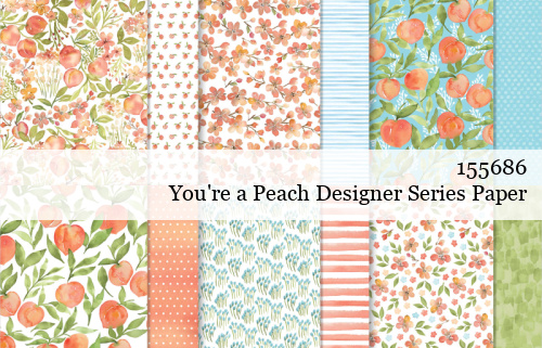 155686 Stampin' Up! You're a Peach Designer Series Paper shared by Dawn Olchefske #dostamping #stampinup #handmade #cardmaking #stamping #papercrafting