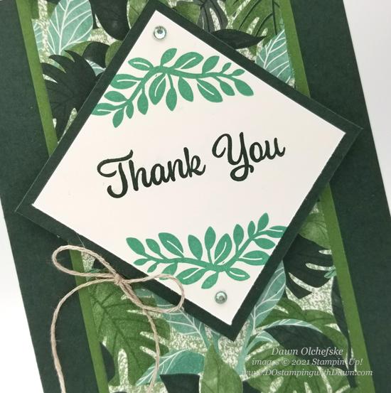NEW Stampin' Up! Plentiful Plants sketch card by Dawn Olchefske #dostamping #HowdSheDOthat #DOswts364 #dostamperstars-CU