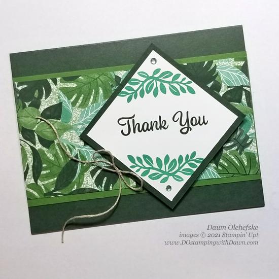 NEW Stampin' Up! Plentiful Plants sketch card by Dawn Olchefske #dostamping #HowdSheDOthat #DOswts364 #dostamperstars-2
