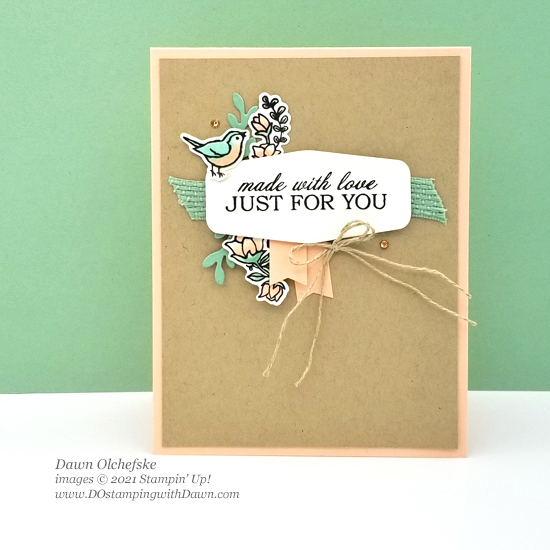 Stampin' Up! Quite Curvy Bundle card by Dawn Olchefske #dostamping #HowdSheDOthat #papercrafting #birthdaycards