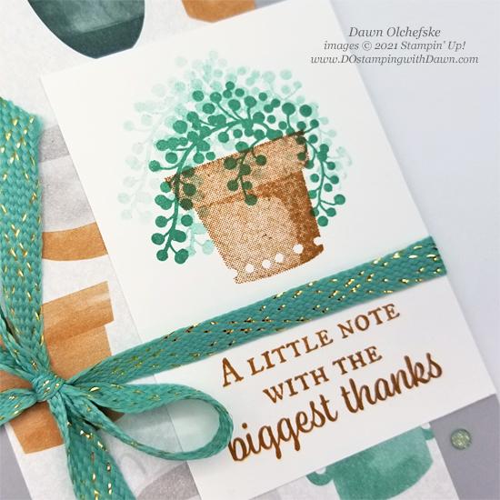 Stampin' Up! Bloom Where You're Planted Designer Series Paper sketch card by Dawn Olchefske #dostamping #HowdSheDOthat #DOswts366 #dostamperstars-CU