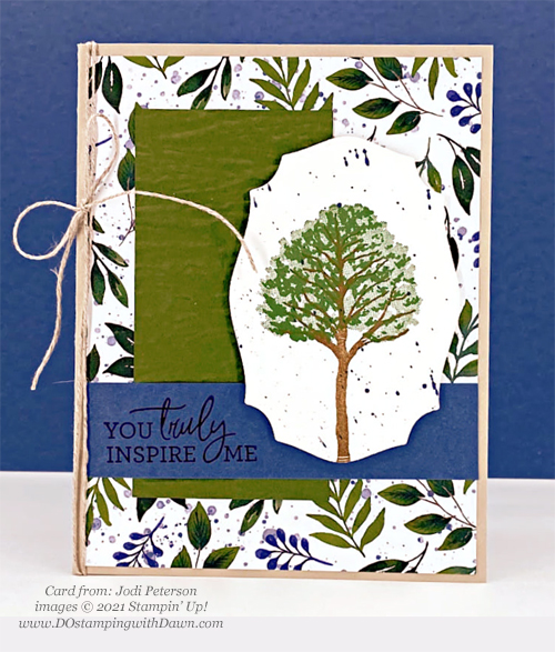 Stampin' Up! Designer Series Paper Sale Beauty of the Earth card shared by Dawn Olchefske #dostamping (Jodi Peterson)